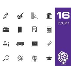 Black education icon set on white background vector