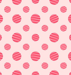 Seamless pink dots background pattern vector