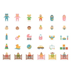 Babe icons for greetings card vector