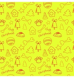 Fun christmas seamless lemon yellow pattern vector