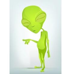 Cartoon old alien vector