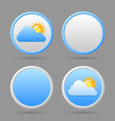Weather icons and blank templates vector