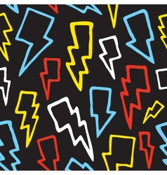 Thunder bolts seamless pattern vector