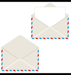 Open envelope with letter vector