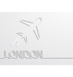 Modern london capital background vector