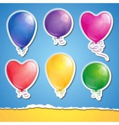 Set of balloons vector