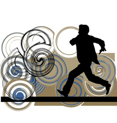 Runner in action vector