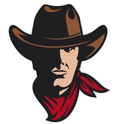 American cowboy head vector