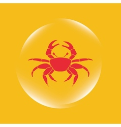 Crab icon vector