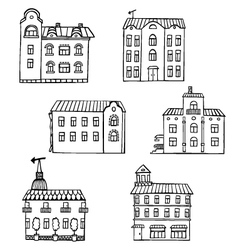 Set with houses vector