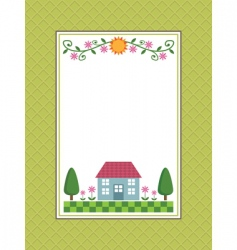 Home sweet home frame vector
