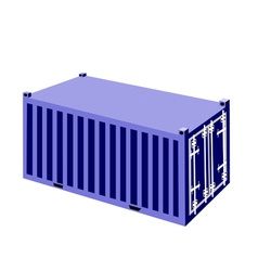 A blue container cargo container vector