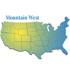 Us states region mountain west map vector