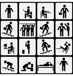 Symbolic life of human vector