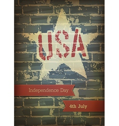 Independence day brick background vector