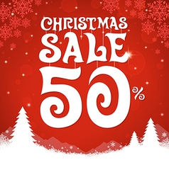 Christmas sale 50 percent vector