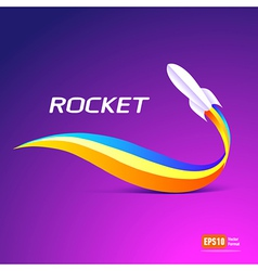 Rocket fly takeoff space ship silhouette element vector