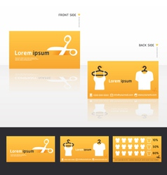 Clothes business cards discount vector