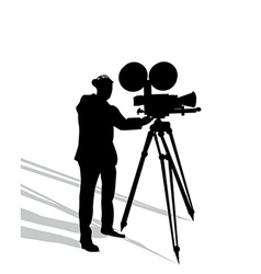 Camera man on white vector