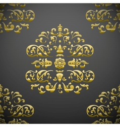 Seamless royal floral pattern vector