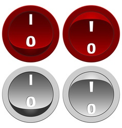 Switch buttons set vector