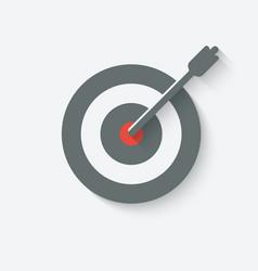 Target with arrow vector