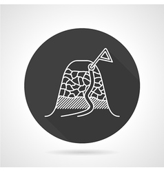 Climbing route black round icon vector