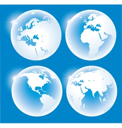 Blue glossy globes vector