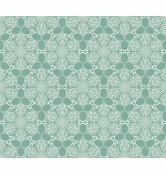 Seamless lacy winter pattern with snowflakes vector
