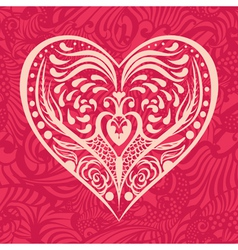Pattern with heart vector
