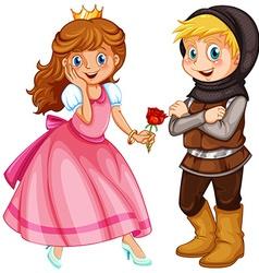 Princess and knight vector
