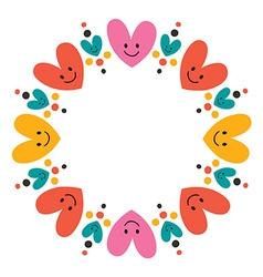 Cute hearts frame 2 vector