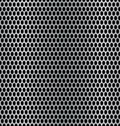 Metal hexagon background vector