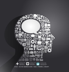 Elements are small icons finance make in man think vector