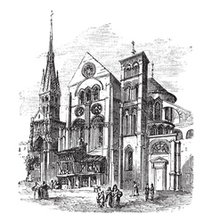 Notre dame church chalons vector