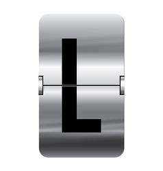 Alphabet silver flipboard letters l vector