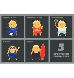 Sportsmen characters vector