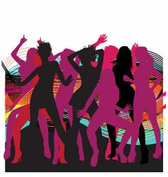 Dancin' girls vector