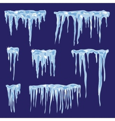 Icicles set for your design vector