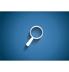 Search glossy icon vector