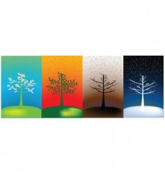Abstract seasons vector