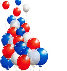 Balloons in white blue and red vector