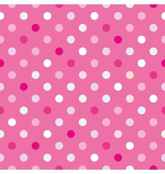Colorful tile background pink polka dots wallpaper vector