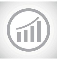 Grey bar graphic sign icon vector