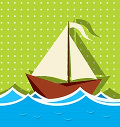 Sailing ship graphic vector
