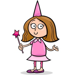 Girl in fairy costume cartoon vector
