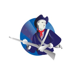 American minuteman revolutionary soldier vector
