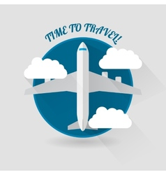 Time to travel modern flat style plane vector