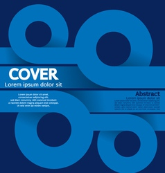 Cover or flyer design vector