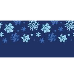 Glitter snowflakes dark horizontal border seamless vector